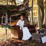 Photobooth mariage d'automne tendance