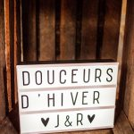 Light box mariage